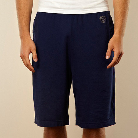 Red Herring - Navy logo sweat shorts