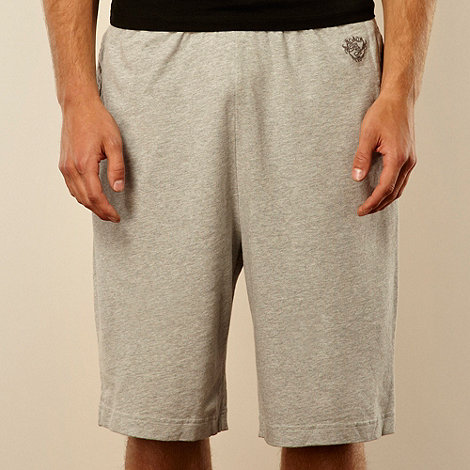 Red Herring - Grey logo sweat shorts