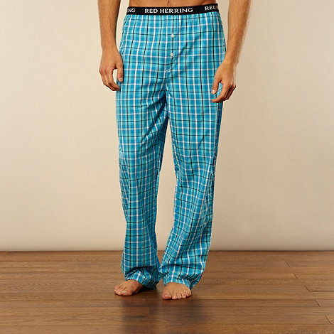 Red Herring - Bright turquoise checked loungewear trousers