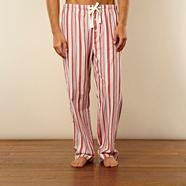 Red multi striped loungewear trousers