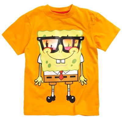 Character Boys orange Spongebob glasses t-shirt product image