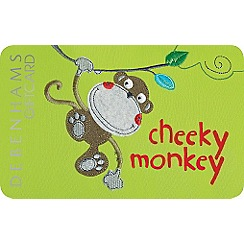 Debenhams - Cheeky monkey gift card
