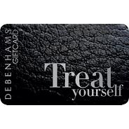 Black leather gift card