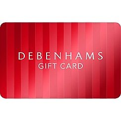 Debenhams - Xmas Red Stripe Gift Card