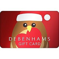 Debenhams - Xmas Robin Gift Card