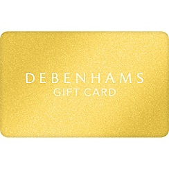 Debenhams - Xmas Gold Glitter Gift Card