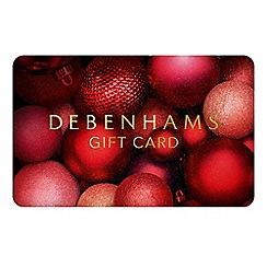 Debenhams - Christmas Baubles Gift Card