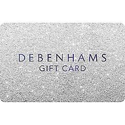 Debenhams - Silver glitter gift card