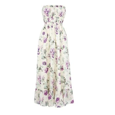 Fashion Maxi Dresses on Vintage Floral Bandeau Maxi Dress By Warehouse 58606 4453056499