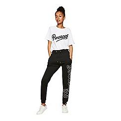 Miss Selfridge - Pineapple black logo joggers