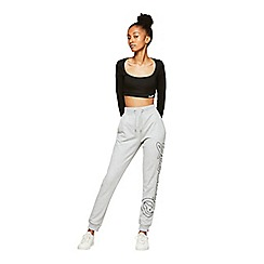 Miss Selfridge - Pineapple grey logo joggers