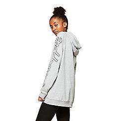 Miss Selfridge - Grey longline oversized hoodies