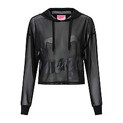 Miss Selfridge - Mesh logo hoodies