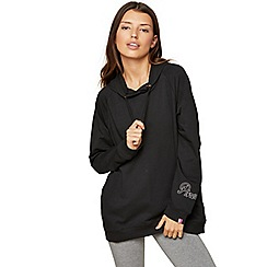Miss Selfridge - Longline small logo hoody