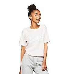 Miss Selfridge - Pineapple pink cropped raw hem t-shirt