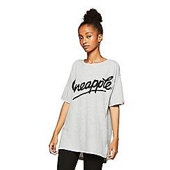 Miss Selfridge - Pineapple grey longline t-shirt