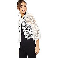 Miss Selfridge - Lace bell sleeve jacket