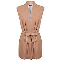 Miss Selfridge - Nude judo wrap jacket