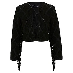Miss Selfridge - Black suede patchwork jacket