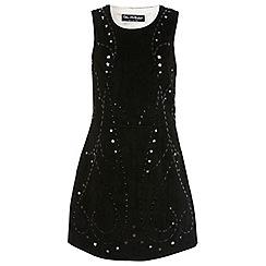 Miss Selfridge - Black suede lazer cut dress