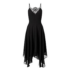 Miss Selfridge - Black lace insert dress