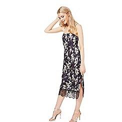 Miss Selfridge - Printed cami slip midi dress