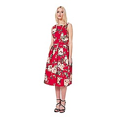 Miss Selfridge - Red floral prom dress