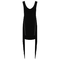 Miss Selfridge - Black eyelet fringe dress