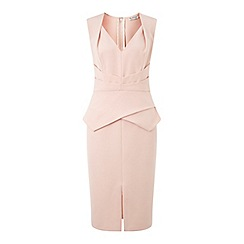 Miss Selfridge - Nude origami pencil dress