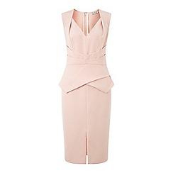 Miss Selfridge - Nude origami pencil dress