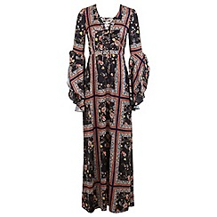 Miss Selfridge - Scarf print maxi dress