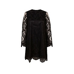 Miss Selfridge - Black lace swing dress