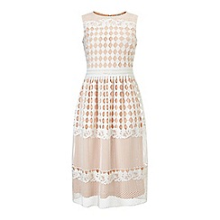 Miss Selfridge - Geo lace midi dress