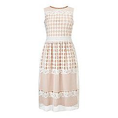 Miss Selfridge - Geo lace midi dress