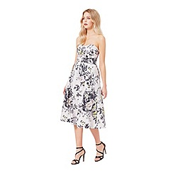 Miss Selfridge - Floral bandeau prom dress