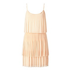 Miss Selfridge - Blush layer plisse dress