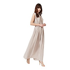 Miss Selfridge - Stone tie waist maxi dress