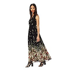 Miss Selfridge - Black floral maxi dress