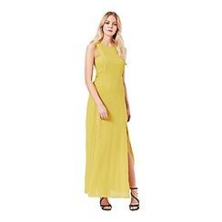 Miss Selfridge - Chartruse maxi dress