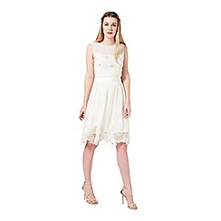 Miss Selfridge - Ivory embellished midi dress