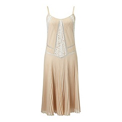 Miss Selfridge - Blush pleated cami dress