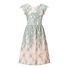 Miss Selfridge - Teal lace prom dress