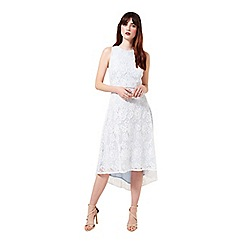 Miss Selfridge - Lace dip back hem midi dress