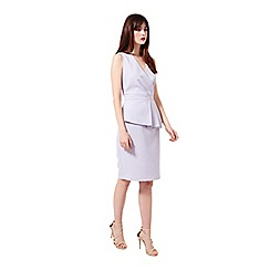 Miss Selfridge - Lilac peplum dress