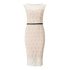 Miss Selfridge - Nude lace pencil dress