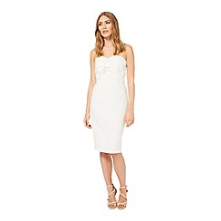 Miss Selfridge - White bandeau pencil dress