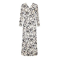 Miss Selfridge - Floral wrap maxi dress