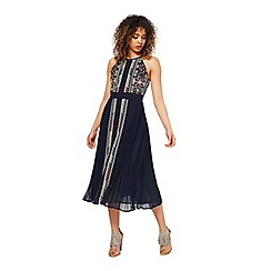 Miss Selfridge - Navy aztec midi dress