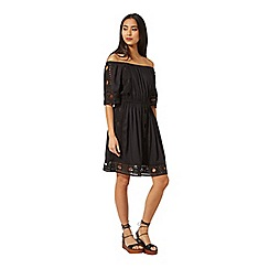 Miss Selfridge - Black lace bardot dress