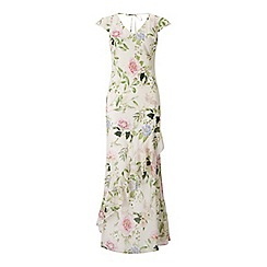 Miss Selfridge - Floral ruffle maxi dress